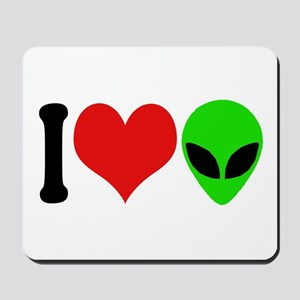 I Love Aliens (design) Mousepad