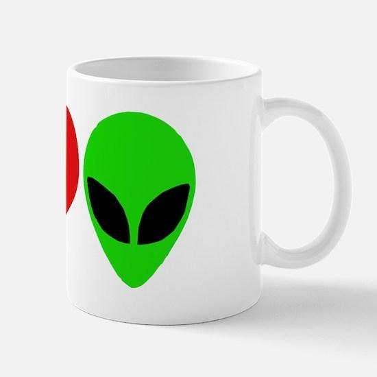 I Love Aliens (design) Mug