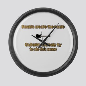 Bassists Create The Music Large Wall Clock