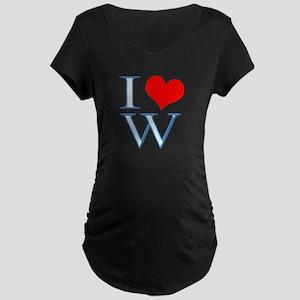I <3 W Maternity Dark T-Shirt