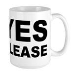 Say Please With This Large Mug