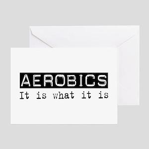 Aerobics Is Greeting Card