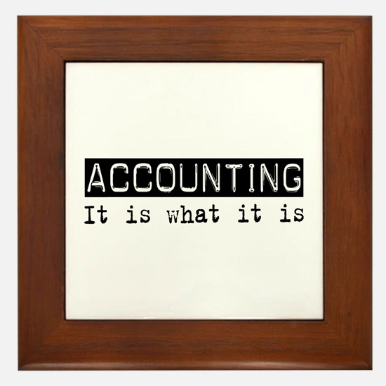 Accounting Is Framed Tile