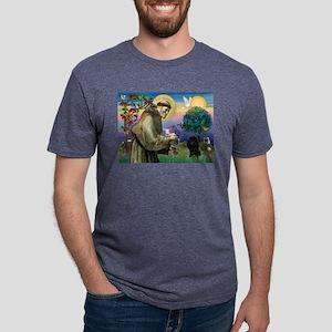 St. Francis & Black Poodle #2 Ash Grey T-Shirt