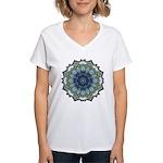 Bewilderment in Blue Women's V-Neck T-Shirt
