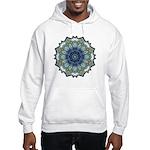 Bewilderment in Blue Hooded Sweatshirt