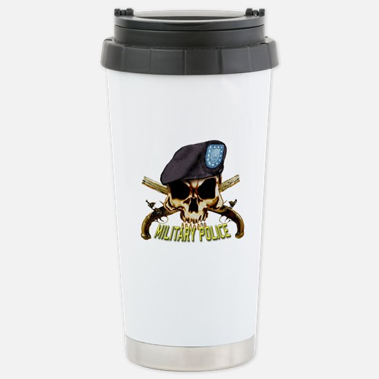 Army MP Skull Stainless Steel Travel Mug