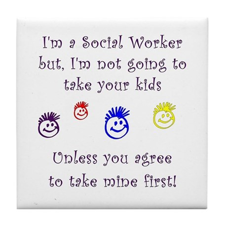 Take My Kids Tile Coaster