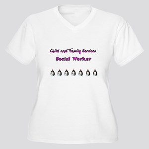 Child and Family Services Women's Plus Size V-Neck