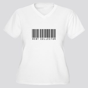 Debt Collector Barcode Women's Plus Size V-Neck T-
