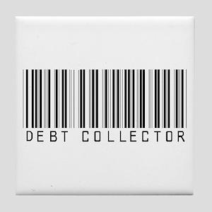 Debt Collector Barcode Tile Coaster