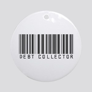 Debt Collector Barcode Ornament (Round)