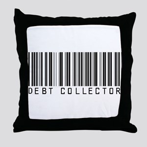 Debt Collector Barcode Throw Pillow