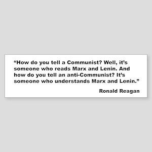Reagan Communist Quote Bumper Sticker