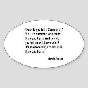 Reagan Communist Quote Oval Sticker