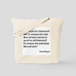 Reagan Communist Quote Tote Bag