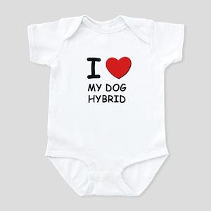 I love MY DOG HYBRID Infant Bodysuit