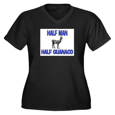 Half Man Half Guanaco Women's Plus Size V-Neck Dar
