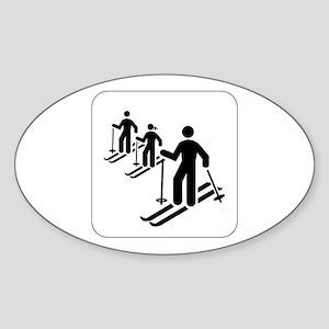 Ski Icon Oval Sticker