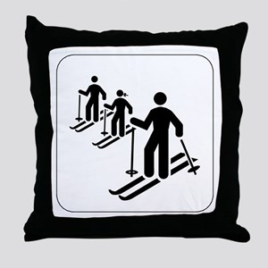 Ski Icon Throw Pillow