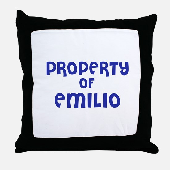 Property of Emilio Throw Pillow