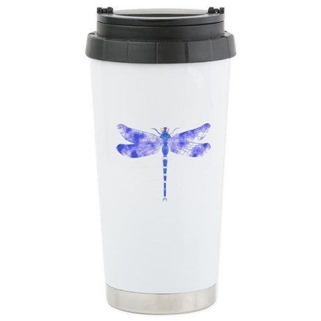 Blue Dragonfly Stainless Steel Travel Mug