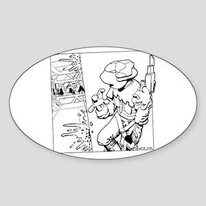 'Boarding Party' Oval Sticker