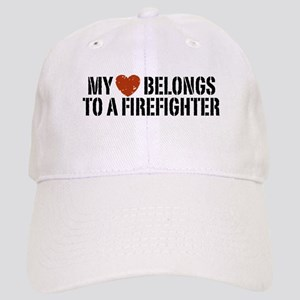 My Heart Belongs to a Firefighter Cap