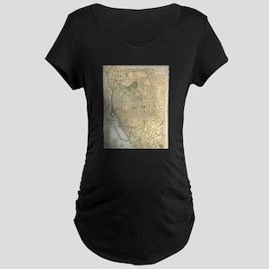 Vintage Map of Buffalo New York Maternity T-Shirt
