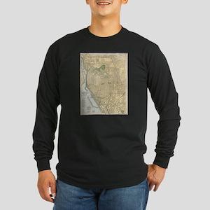 Vintage Map of Buffalo New Yor Long Sleeve T-Shirt