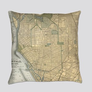 Vintage Map of Buffalo New York (1 Everyday Pillow