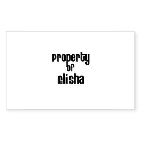 Property of Elisha Rectangle Sticker