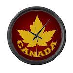 Canada Souvenir Varsity Large Wall Clock