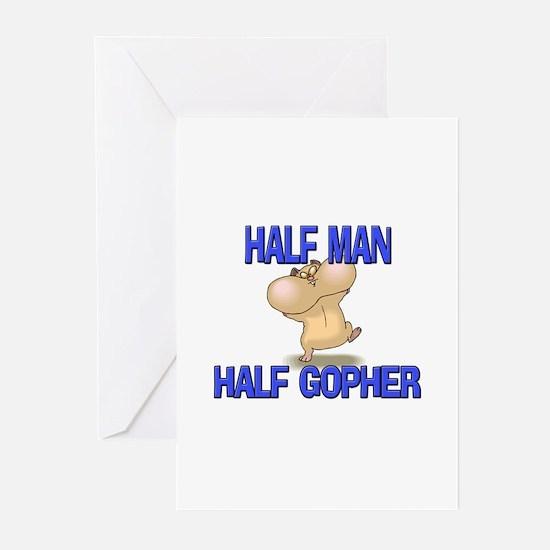 Half Man Half Gopher Greeting Cards (Pk of 10)