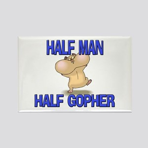 Half Man Half Gopher Rectangle Magnet