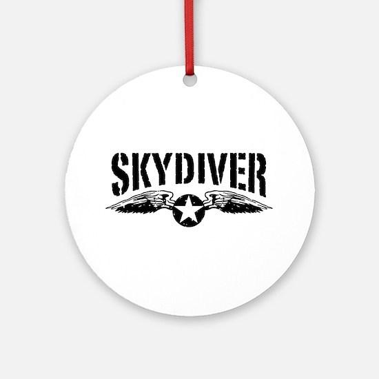 Skydiver Ornament (Round)