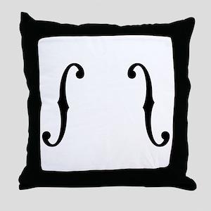 F-Holes Throw Pillow