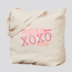 Pink XOXO Love Kisses Tote Bag 2 Sided Design