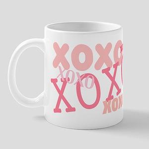 Pink XOXO Hugs and Kisses Mug
