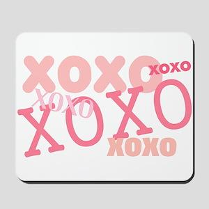 Pink XOXO Hugs and Kisses Mousepad