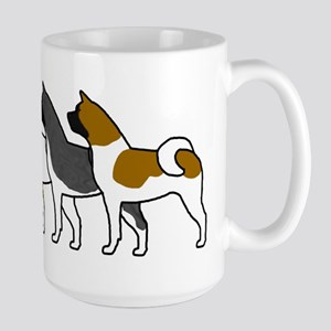Group O' Akitas Large Mug