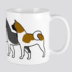 Group O' Akitas Mug