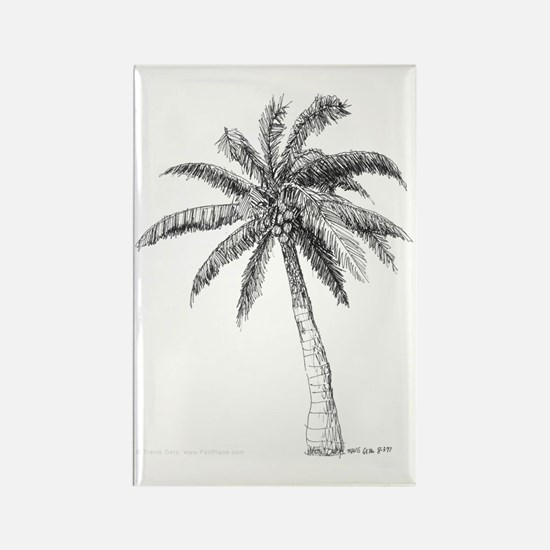 'Lone Palm' Rectangle Magnet