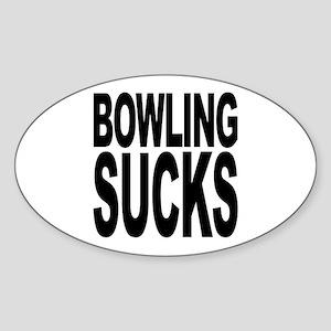 Bowling Sucks Oval Sticker