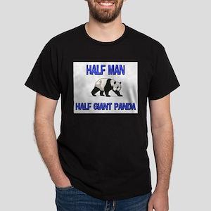 Half Man Half Giant Panda Dark T-Shirt