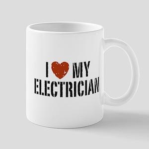 I Love My Electrician Mug