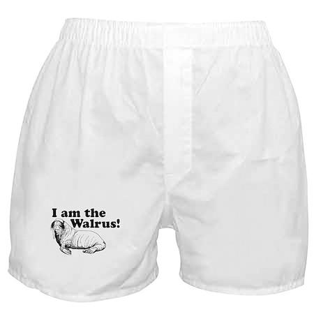 funny animals I am the Walrus Boxer Shorts