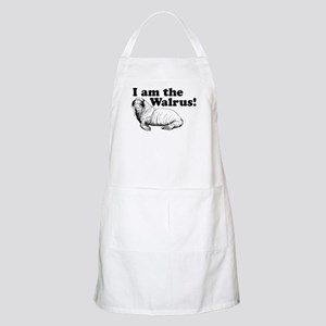 funny animals I am the Walrus BBQ Apron
