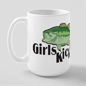 Girls Kick Bass! Large Mug