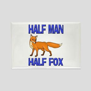 Half Man Half Fox Rectangle Magnet